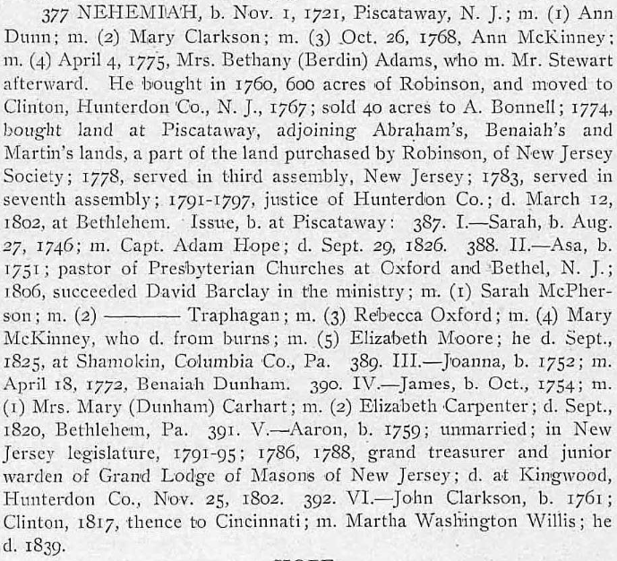 Family Hope Adam Dunham Genealogy page 271