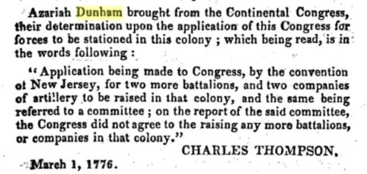 Journal of the Votes and Proceedings of the Provincial Congress of New Jersey, Azariah Dunham