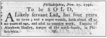 Age 18 years. The Pennsylvania Gazette (Philadelphia) at 3 (Dec. 2, 1746)