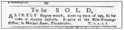 Age 19 Years Old. The Pennsylvania Gazette (Philadelphia) at 3 (Jan. 22, 1756)