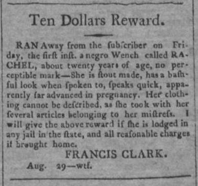Age 20 Years Old.  The National Intelligencer and Washington Advertiser. (Washington D.C.) at 3 (Aug. 31, 1804) .JPG