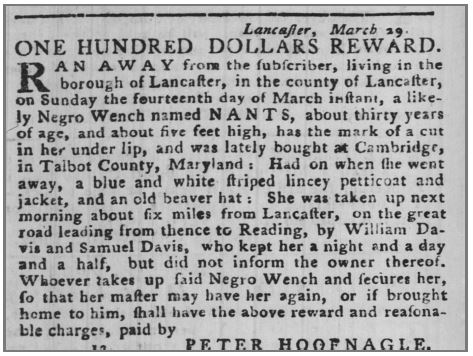 Age 30 Years Old. The Pennsylvania Packet (Philadelphia) at 4 (Apr. 15, 1779)